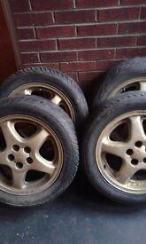 16 inch subaru alloys wheels good condition good tread open to good offers