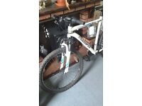 Muddy fox anarchy 100 white mountain bike with front shocks £90