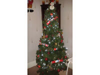 6ft artificial xmas tree. .