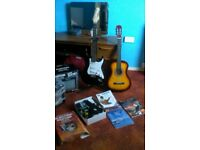 2 Guitars amp and tutorial books