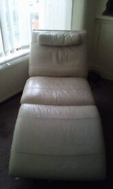 Leather chair lounger