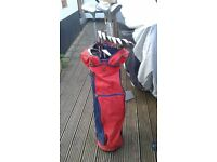 Pinseeker full set of golf clubs with bag and trolley