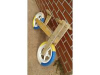 Wooden Balance Bike with adjustable seat
