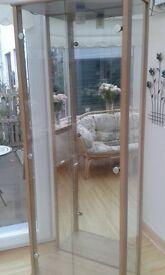 Double Glass Door Display Cabinet - Very good condition