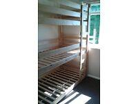 Pine triple bunk beds( All single)