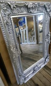 Silver Ornate Mirror!! New !!