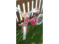 Kids' Bike Barbie 16 inch for a girl 4-6 years