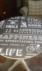 ***SUPER FUNKY UPCYCLED HAPPY CYCLE TABLE ONE OFF UNIQUE***