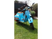 2001 Vespa px 125 done in the gulf colours excellent condition