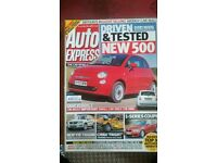 AUTO EXPRESS MAGAZINE # FIAT 500 # JUL 2007 # LOADS MORE MAGS AVAILABLE # BRAND NEW CONDITION