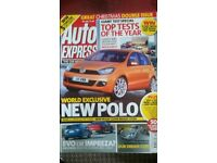 AUTO EXPRESS MAGAZINE # VW POLO # DEC 2007 # LOADS MORE MAGS AVAILABLE # BRAND NEW CONDITION