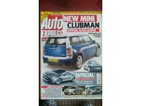 AUTO EXPRESS MAGAZINE # MINI CLUBMAN # AUG 2007 # LOADS MORE MAGS AVAILABLE # BRAND NEW CONDITION
