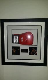 Anthony Joshua signed boxing gloves
