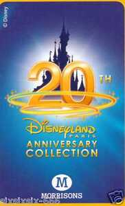 Morrisons 20th Anniversary Disneyland Paris Cards - Part Set Of 77 Normal Cards