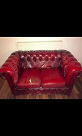 Chesterfield Sofas - a two seater and a one seater