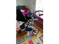 Baby pram black