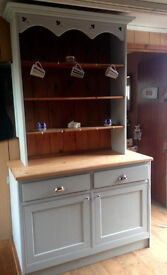 Solid Uniqe Handmade Welsh dresser in French grey