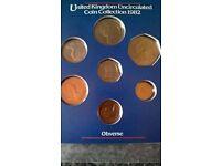 1982 coin set,royal mint sealed.