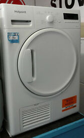 e084 white hotpoint 8kg B rated condenser dryer comes with warranty can be delivered or collected