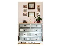 Solid Pine Chest of Drawers Shabby Chic Annie Sloan