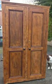 Antique Wardrobe - (old pine)