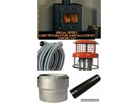 Cairo 7kw Multifuel stove & Installation Kit