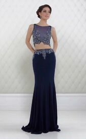 Stunning brand new 2 piece prom dress size 8