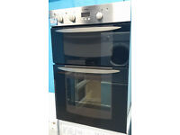 g046 stainless steel indesit integrated double oven comes with warranty can be delivered