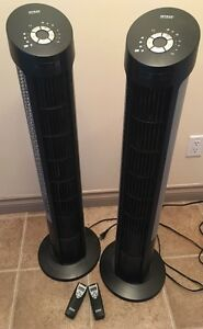 "Two Seville Classics Slim 40"" Tower Fans"