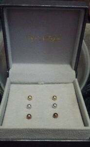 14kt gold earring set