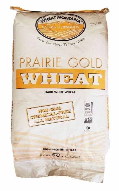 Praire Gold - Hard White Wheat Kernel (Berries) - 50 Lb Bag - Wheat Montana