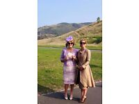 Beautiful Mother of the bride/wedding guest full outfit (champagne and lilac)size 16 (uk) worn once