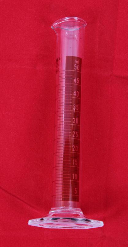 Kimble 20024-D-50 KIMAX 50mL Class B Glass Graduated Cylinder