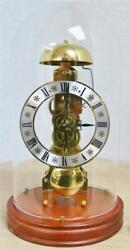 Beautiful Vintage 8 Day Passing Strike Franz Hermle Skeleton Clock & Glass Dome