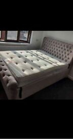 """Sleigh 4ft6"""" Double Size Beds Optional"""