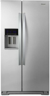21 Cu Ft Side By Side Counter Depth Refrigerator Water Dispe
