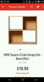 Cube shelves from argos
