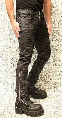SHRINE PUNKER DECAY MOTO BONDAGE GOTH PUNK JEANS ZOMBIE ROCKER EMO GOTHIC PANTS Clothing, Shoes & Accessories