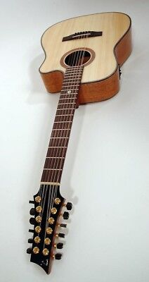 Handcrafted Austrian German 12 String Electric Acousitc Jablonski w HSC
