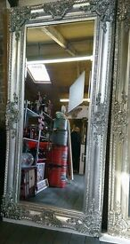 Huge Ornate silver mirrors !!! New !!