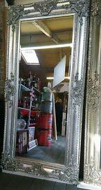 Large Ornate Platinum Silver Mirrors!!!