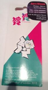 London 2012 Olympic / Paralympic White Logo Pin Badge, Tie Pin Official Product