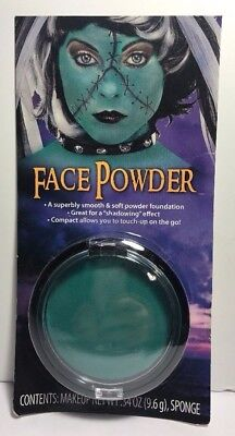 Mermaid Costume Makeup Face Powder Foundation Turquoise Blue Cosplay Halloween