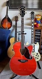 Gretsch Rancher G5022CE Jumbo Acoustic Guitar with Hard Case (As New!)