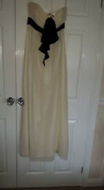 Ted Baker Ivory strapless Maxi dress. Brand new with tags. Gorgeous dress perfect for any occasion.