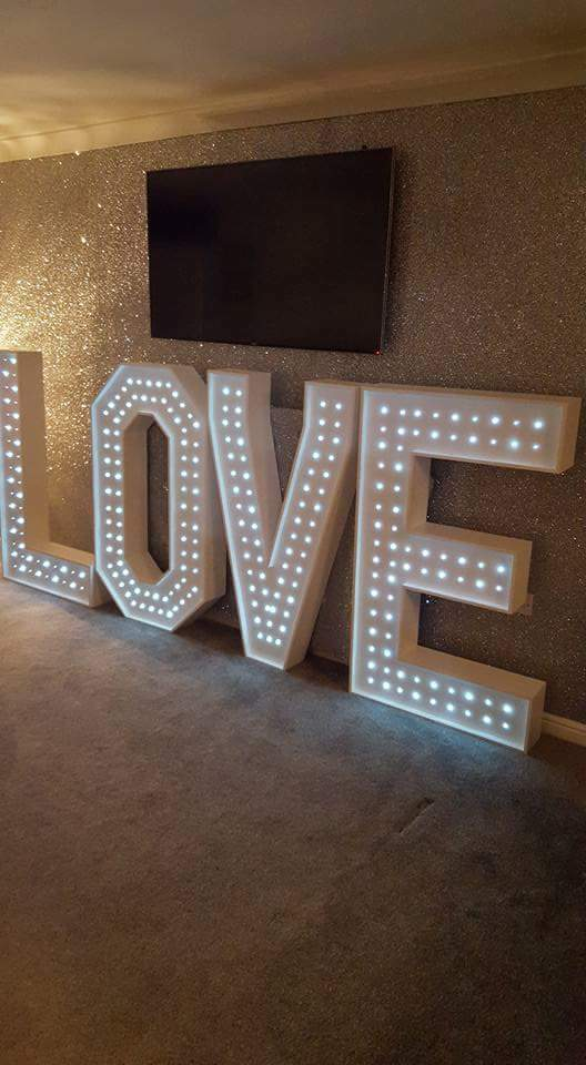 for sale giant 3d 4ft led light up love letters