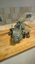 Giant military toy helicopter