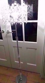 NeW uNuSeD TALL FLOOR LAMP wih led LONG LIFE bulb PERFECT BESIDE SOFA/HALL/MASTER BEDROOM