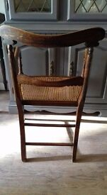 Rare Victorian cane seated armchair Very solid chair, fantastic workmanship