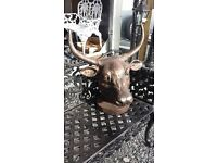 CAST IRON BULLS HEAD STAGS HEAD AND OTHER CAST IRON ANIMALS AVAILABLE AT ARMAGH TRAILERS